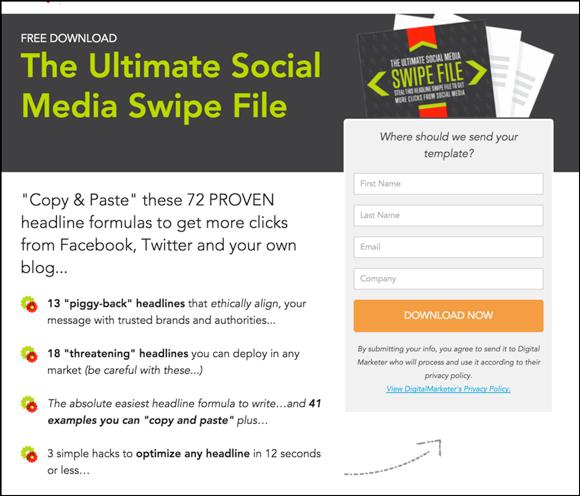 ultimate social media swipe file